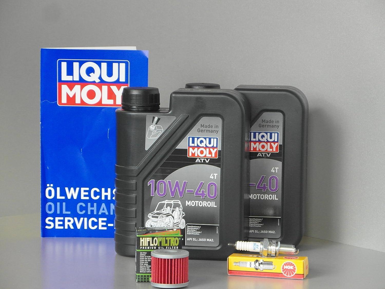 Honda TRX 450 R Mantenimiento y Inspección Juego aceite de aceite Bujía a partir de 2004 Quad: Amazon.es: Coche y moto