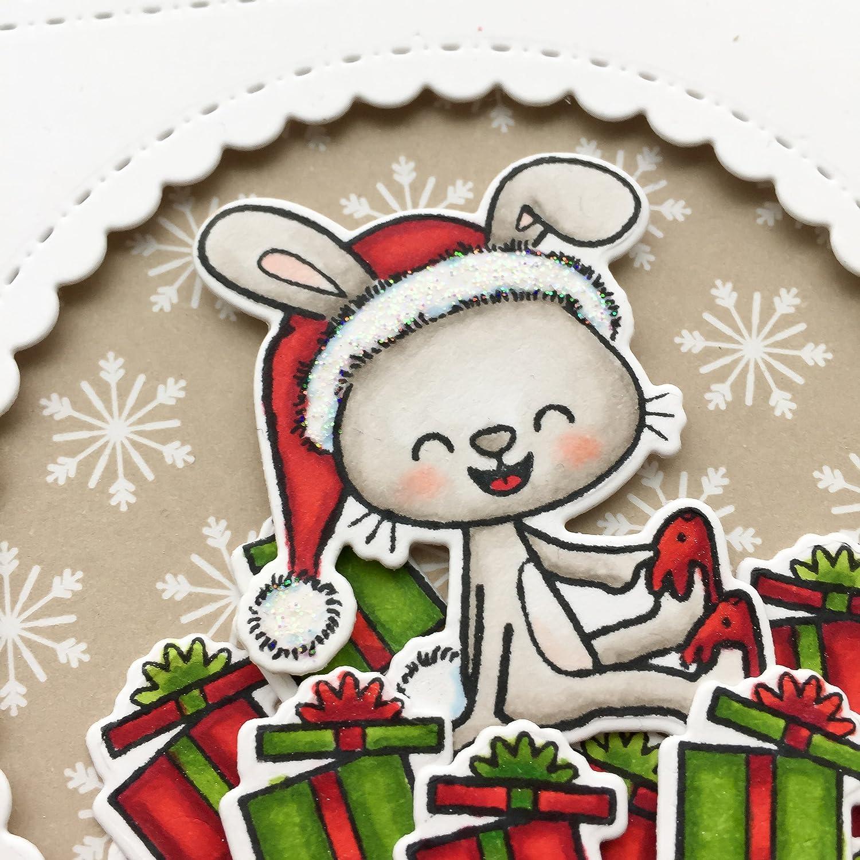 Gifts Greeting Card Cute Card Handmade Christmas Card Presents Bunny Merry Christmas Happy Holidays