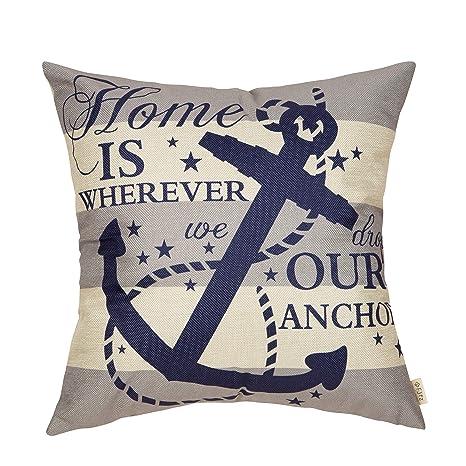Amazon.com: Fjfz - Funda de almohada decorativa, diseño de ...