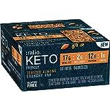 :ratio KETO friendly Toasted Almond Crunchy Bar, Gluten Free, 12 ct Box