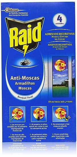Raid - Anti-Moscas Bouquet Floral - Adhesivos decorativos - 4 unidades