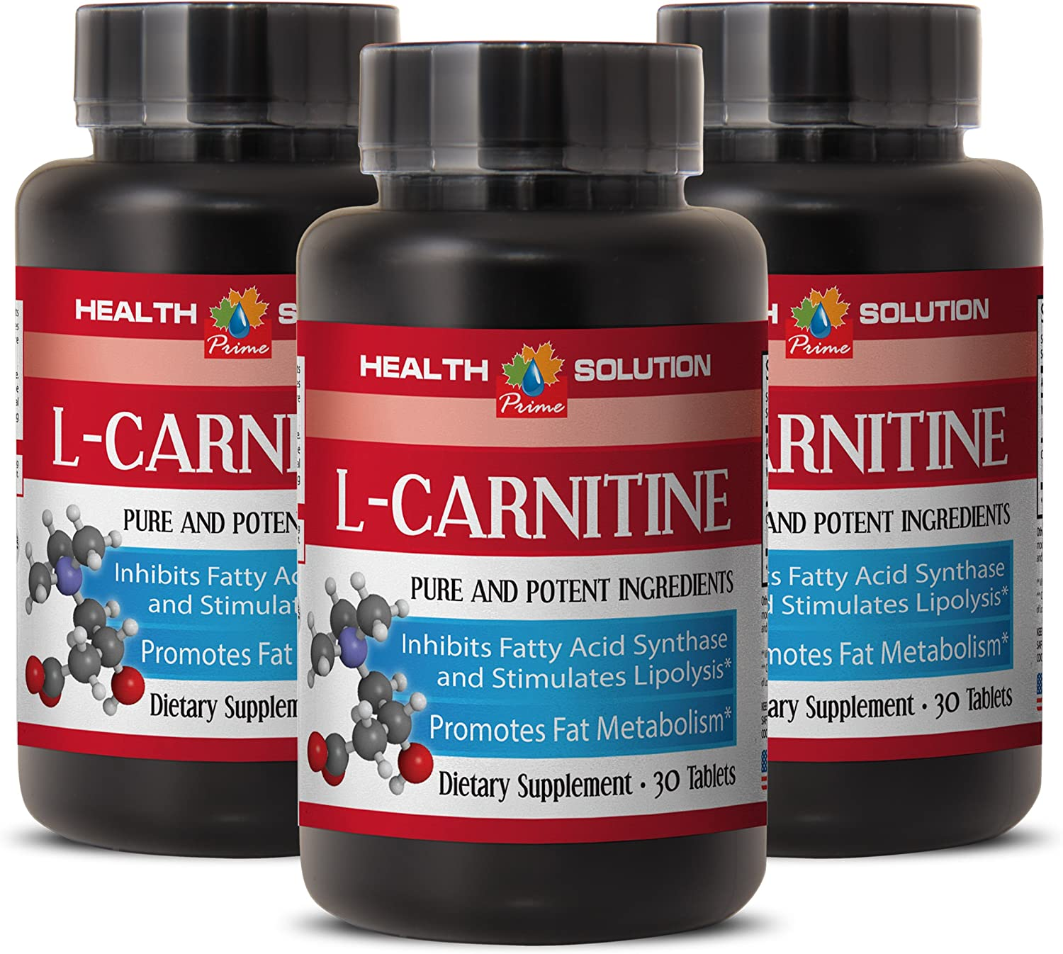 Metabolism Accelerator - Natural L-CARNITINE 500MG - Vitamin b 6 Supplement - 3 Bottle (90 Tablets): Health & Personal Care