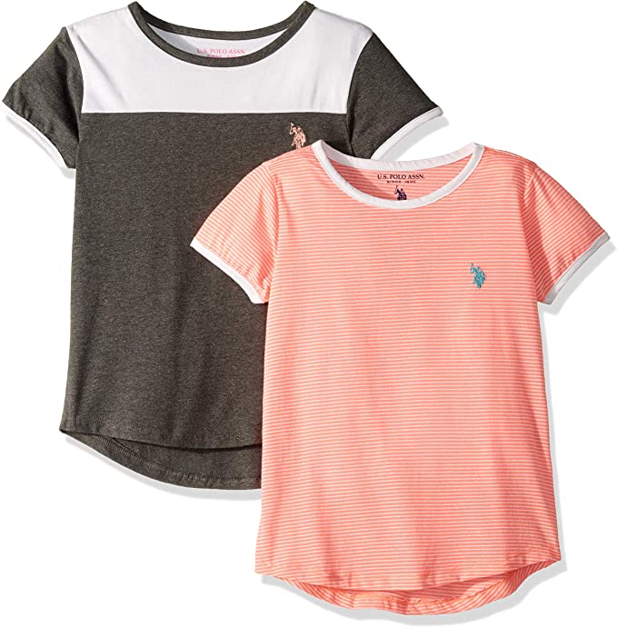 MIXED STRIPES 3 /& 5- NEW Sizes 2 U.S POLO ASSN Boys Stripe T Shirt