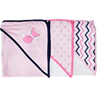 Luvable Friends 3-Piece Hooded Towels (Foxy)