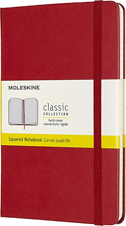 Comprar Moleskine - Cuaderno Clásico con Páginas Cuadriculada, Tapa Dura y Goma Elástica, Color Rojo Escarlata, Tamaño Medio 11.5 x 18 cm, 208 Páginas