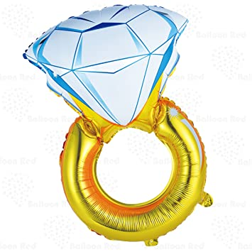 Giant Diamond Engagement Ring Helium Foil Mylar Balloon For Wedding  Proposal Bridal Shower Party, 33