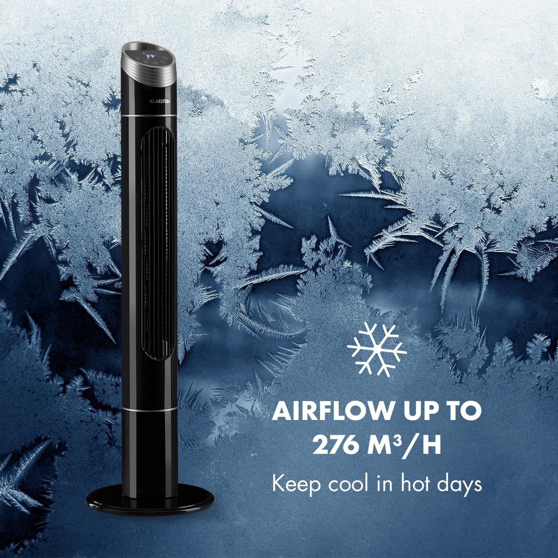 Klarstein Sky High Fresh Line /• Ventilateur Tour /• Oscillation activable /à 75/° /• 3 Modes de Fonctionnement /• Peu encombrant /• 3 Niveaux /• Design /épur/é /• T/él/écommande /• Blanc