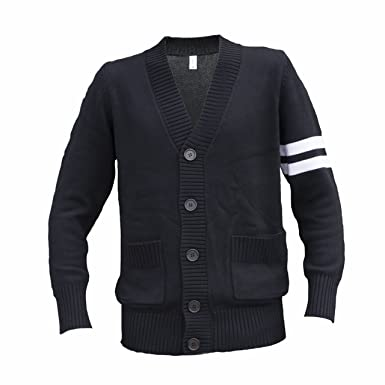 Amazon.com: Hip Hop 50's Shop - Mens 1950s Letterman Cardigan ...
