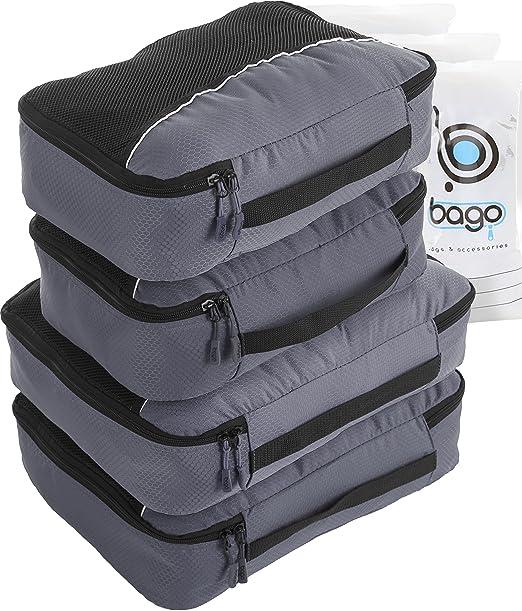 157 opinioni per 4Pz Bago Cubi Di Imballaggio- Set per Viaggi (2+2-Gray)+ 6Pz Sacchetti