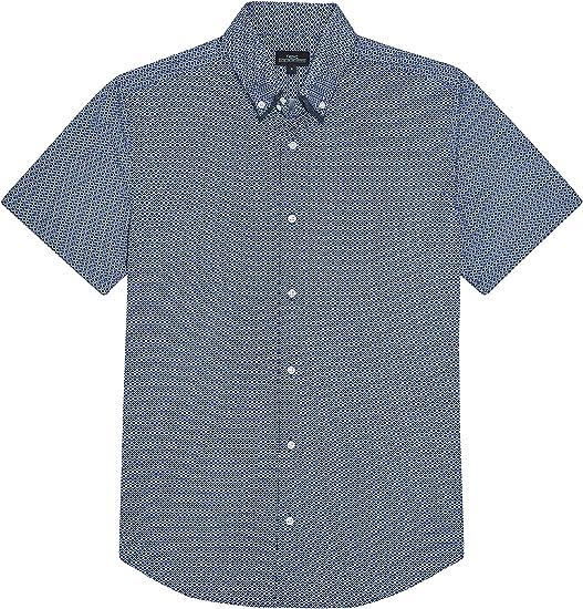 next Hombre Camisa Doble Cuello Manga Corta Corte Regular Estampado Azul XXXXL: Amazon.es: Ropa y accesorios