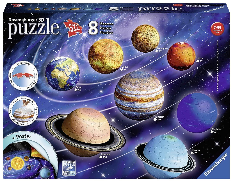 Ravensburger Erwachsenenpuzzle 11668 Planetensystem 3D-Puzzle, bunt Ravensburger Spielverlag