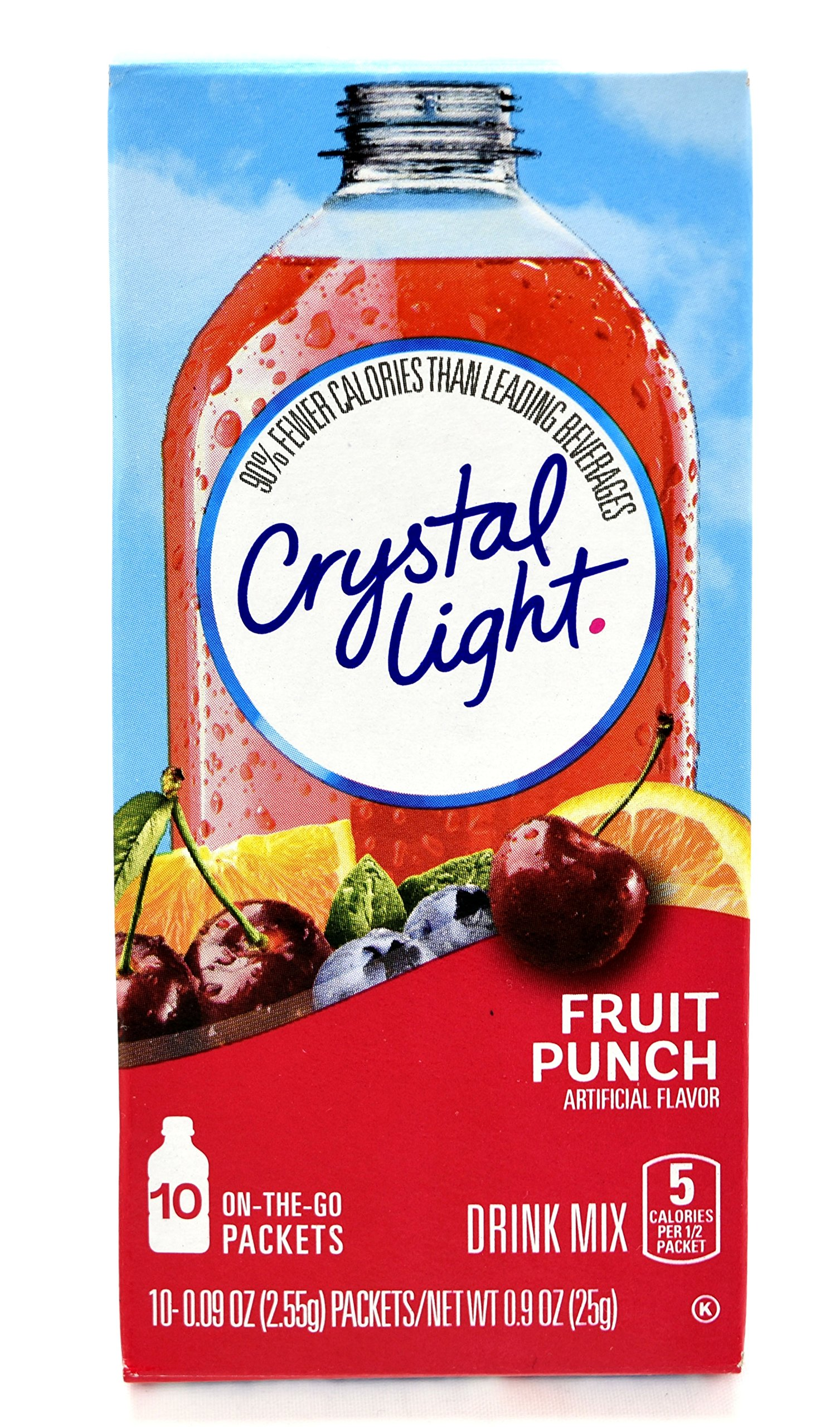 Crystal Light On The Go Fruit Punch Drink Mix, 10-Count Boxes (Pack of 45)