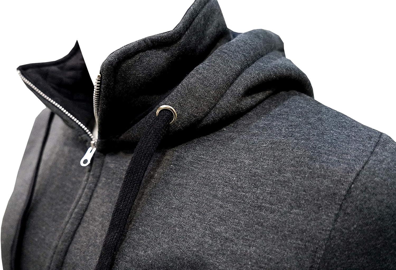 Coton Coupe Mens Cotton Hoodie Sweatshirt with Hidden Mobile Pocket