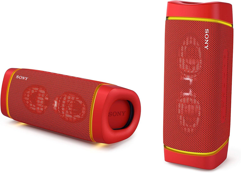 r/ésistante aux Chocs /étanche pour Plage et Piscine Rouge Fusion Sony SRS-XB33 Enceinte Portable Extra Bass Bluetooth St/ér/éo sans Fil