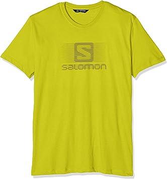 Salomon Herren Kurzarm Sportshirt, BLEND LOGO SS TEE M, BaumwollePolyester