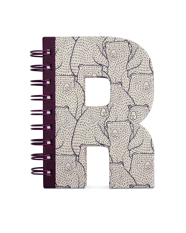 IF Alphabook R Quaderni a Forma di Lettera, Carta, Multicolore, 14x3x19 cm 5035393326180