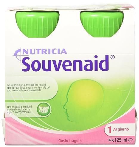 Suplemento Nutricia Souvenaid Alimentación Fresa Sabor 4x125ml