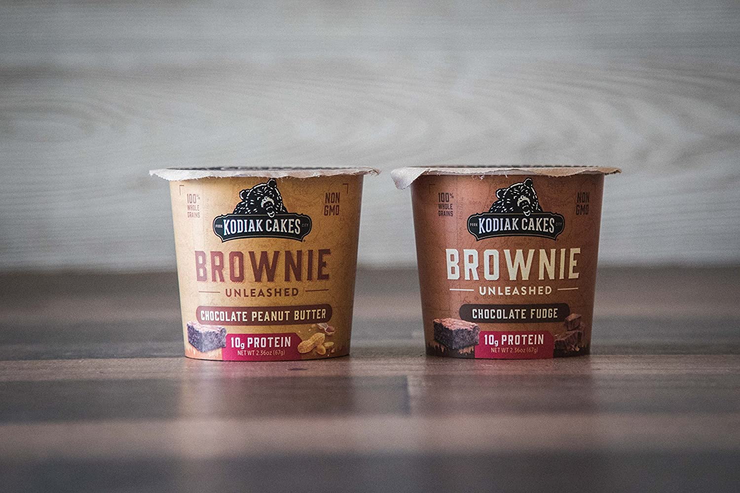 Kodiak Cakes Chocolate Peanut Butter Brownie in a Cup, 2.36 Ounce (Pack of  12) (Packaging May Vary)