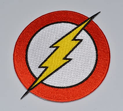 amazon com dc comics the flash superhero logo embroidered patch