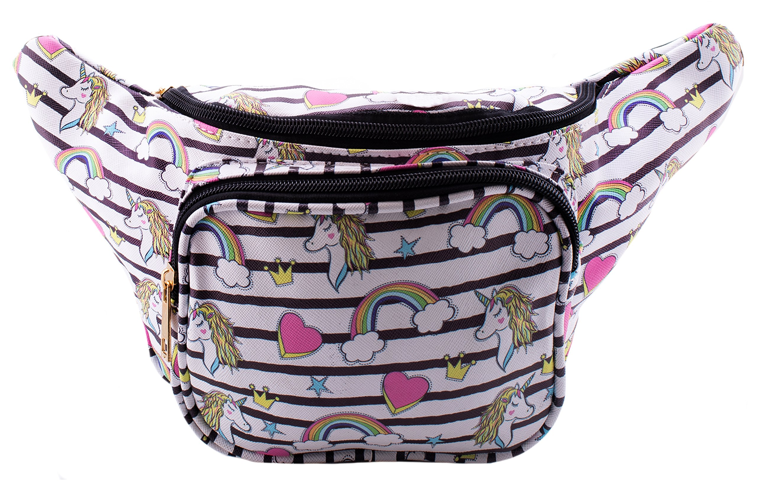 Rainbows Hearts Unicorns Fanny Pack - Waist Bags for Women - Great for Men, Women, and Kids