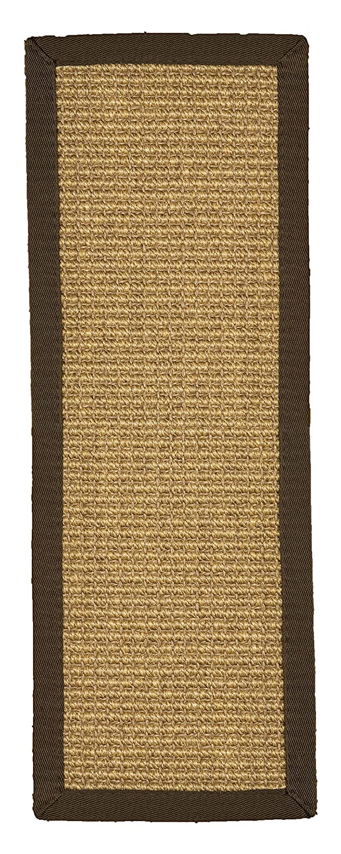 Natural Area Rugs 100% Natural Fiber Tara, Sisal Deep Gold, Handmade Stair Treads Carpet Set of 13 (9'x29') Fudge Border Handmade Stair Treads Carpet Set of 13 (9x29) Fudge Border