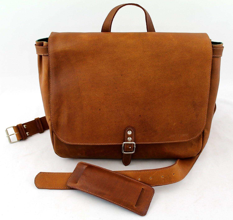 Postman (M) Vintage Leather Bag Shoulder Bag Unisex (A4) PAUL MARIUS  Vintage   retro  Amazon.co.uk  Luggage 4d0587c3712d5