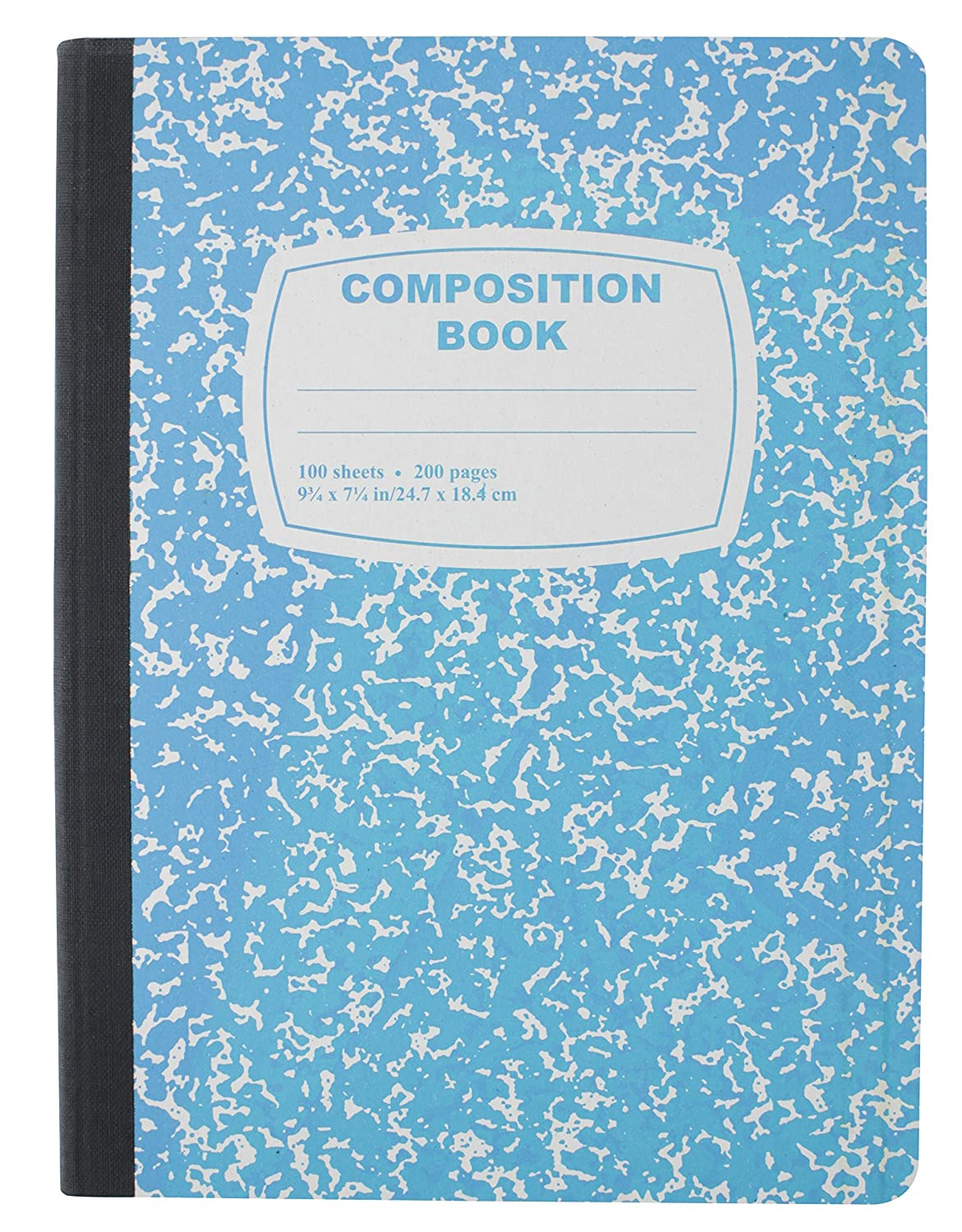 8 Pack Emraw Dark//Neon Colors Cover Composition Book with 100 Sheets of Wide Ruled White Paper