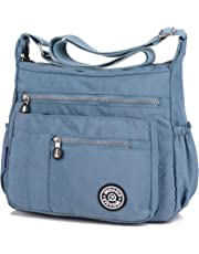 POPOTI Bolso Hombro Mujeres, Bolso Bandolera Mochila Nylon Mano Bolsa de Mensajero Crossbody Bag para Diario Viaje Shopper