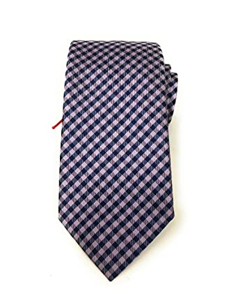 4f8e4b8ab8 discount code for hugo boss mens purple navy blue gingham skinny tie  italian 1753b 380b4