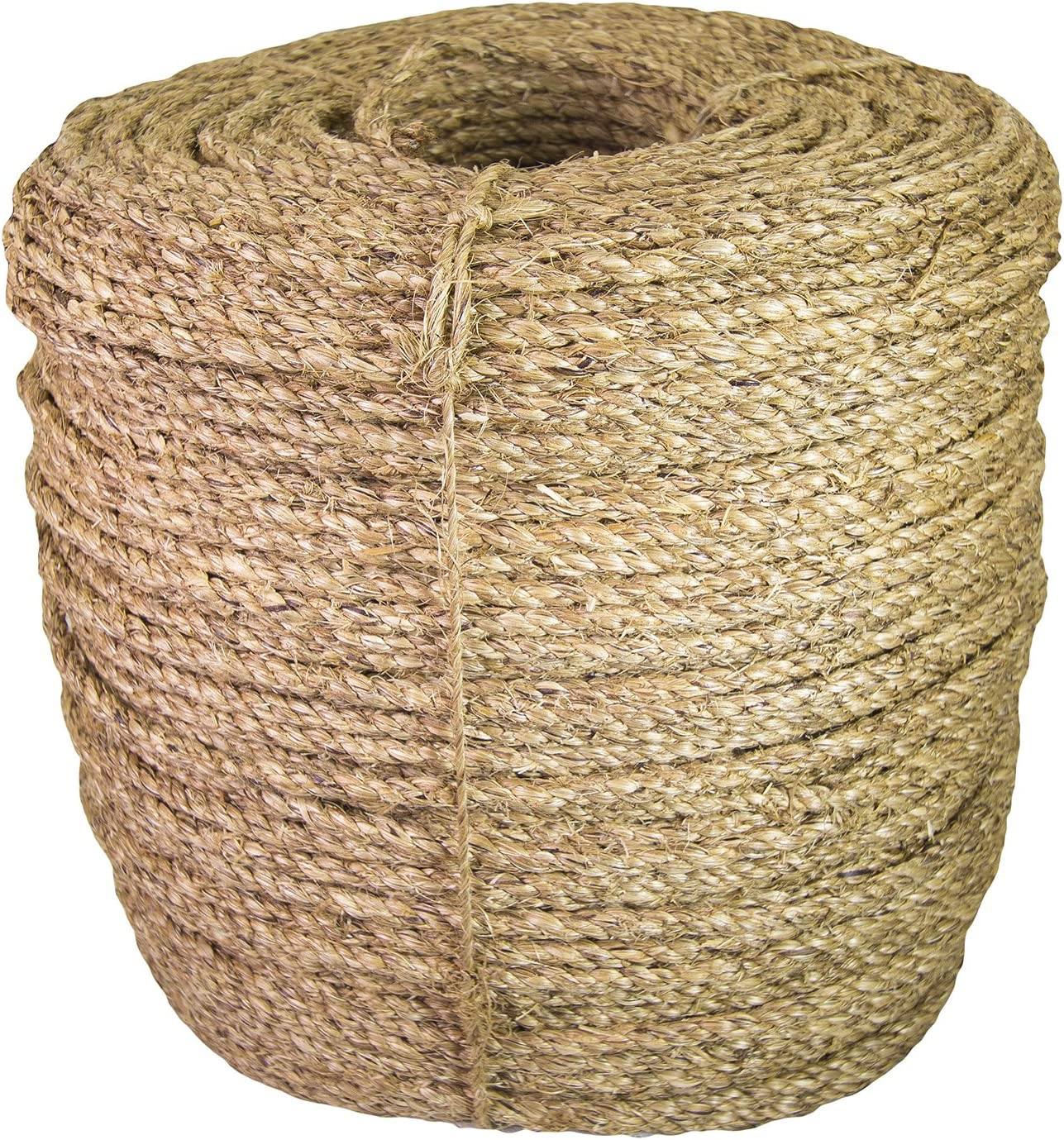 Ravenox Natural Manila Rope Cordage   Pre-Cut Lengths in Every Diameter Landscaping Decorations   Premium Twisted Cord for Climbing Tug of War or General Purpose 2 inch x 30 feet