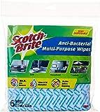 Scotch-Brite Semi-Disposable Multipurpose Wipes, Random, Pack of 6