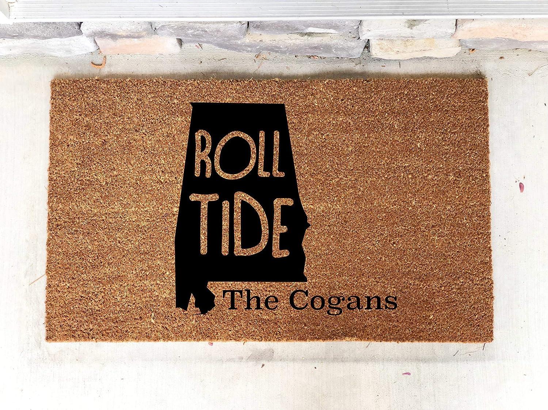 Personalized Alabama AL Roll Tide Football Custom Door Mat Home 18' X 30' Indoor/Outdoor Coir Rug Personalized Gift