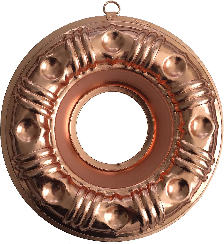 Vintage Copper Tone Aluminum 3 1//2 Cup Jell-o Mold BUNDT CAKE Ring Decor