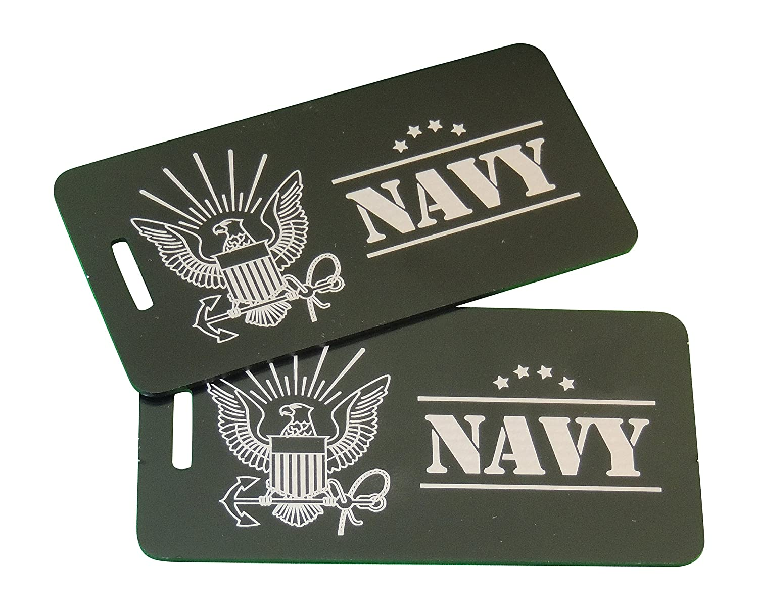 US Navy Gifts Luggage Tag Set US Navy Blue