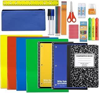 Kit de material escolar: carpeta con espiral, cuaderno de ...