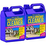Pro-Kleen Patio & Driveway Cleaner (10L) - Removes Green Mould, Algae & Lichen - Powerful, Easy to Use Fluid / Liquid Cleaning Solution - Powers Through Stubborn Dirt & Grime - Use on Patios, Driveways, Block Paving, Concrete Flags, Steps, Paths and more