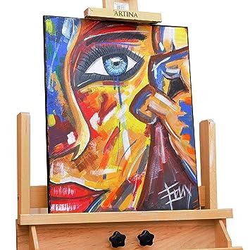 Peint En Acrylique Larme En 40 X 50 Cm Cadre Mural Peint En