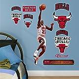"NBA Chicago Bulls Michael Jordan Layup Fathead Real Big Decals, 1'5"" x 3'5"""