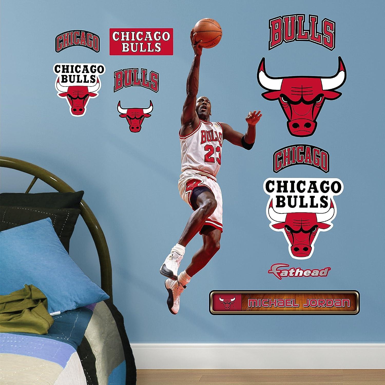 Amazon.com : NBA Chicago Bulls Michael Jordan Layup Fathead Real Big Decals,  1u00275 Part 45