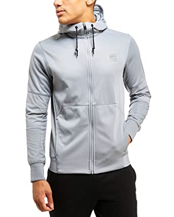 new style 120cd 3e700 Nike Mens Stealth Grey Air Max Poly Full Zip Hoody  832343-005  (S)   Amazon.co.uk  Clothing