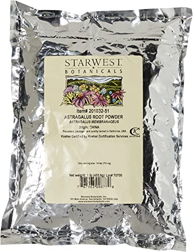Starwest Botanicals Astragalus Root Powder, 1 Pound