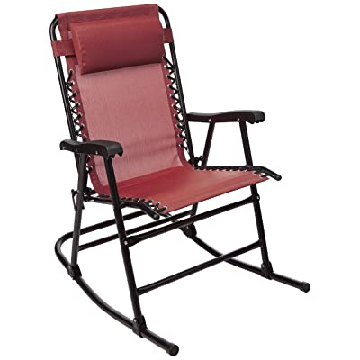 Basics Foldable Rocking Chair - Red : Garden & Outdoor