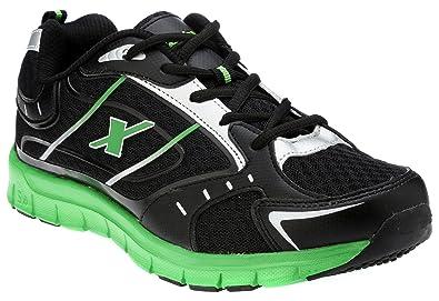 eeb3c4930d26 Sparx Men s SX0219G Black and Fluorescent Green Running Shoes - 10 UK  (SM-219