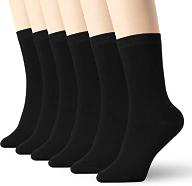 Womens Navy Blue Thin Cotton Socks High Ankle 6 Pack