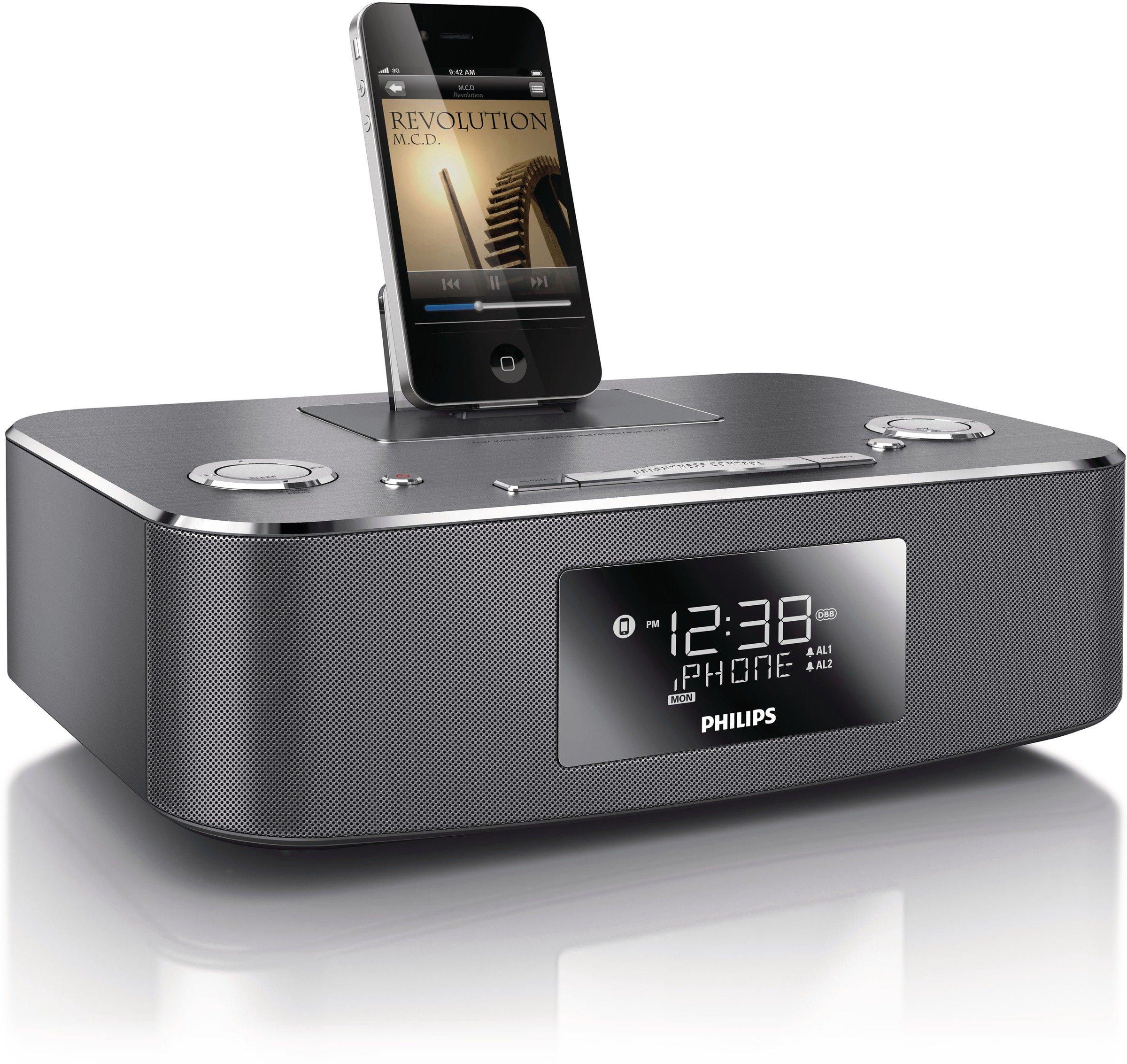 Philips DC291/37 30-Pin iPod/iPhone/iPad Alarm Clock Speaker Dock