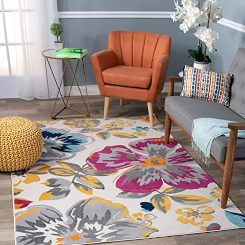 Modern Floral Area Rugs 10 x 14 Multi