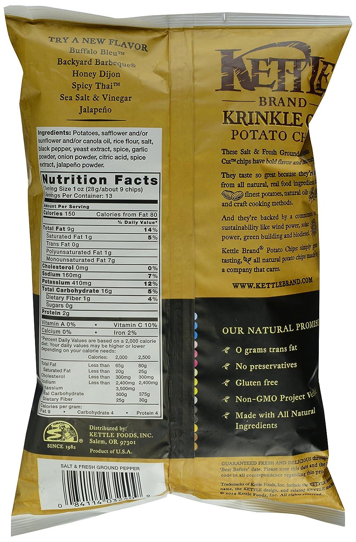 amazon com kettle brand krinkle cut potato chips salt and fresh