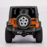 """GSI 07-17 Jeep Wrangler JK Full Width Rock Crawler Heavy Duty Rear Bumper with 2"""" Hitch Receiver and 2x D-Ring"""