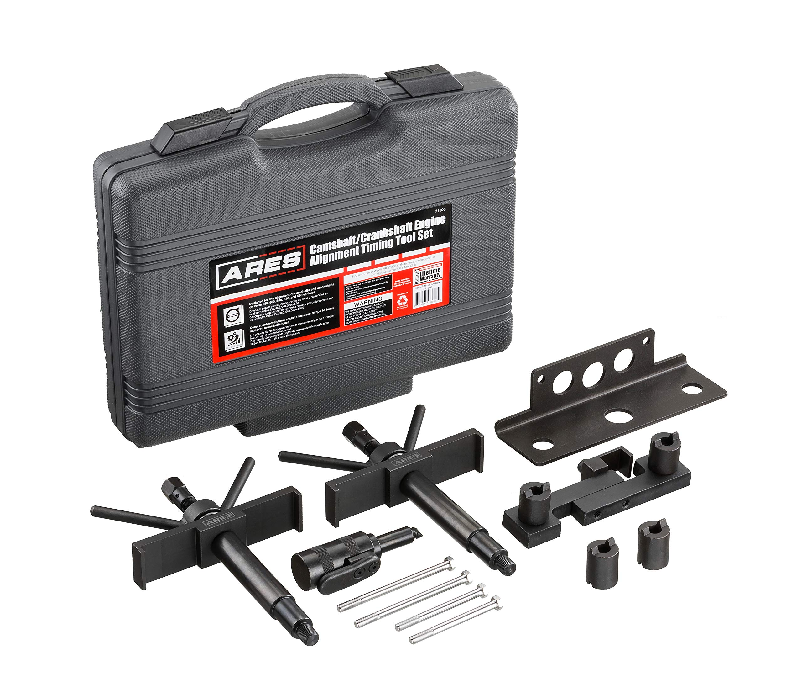 ARES 71506 | Volvo Camshaft, Crankshaft, and Timing Alignment Master Tool Set | Deep Counter-Weighted Sockets for Increased Torque | Correctly Install Camshafts with Cam Cover