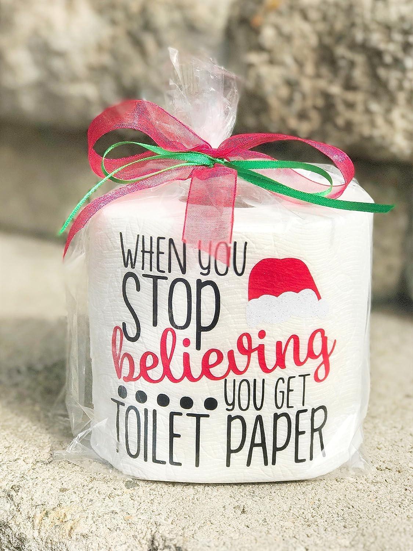 Amazon.com: Christmas Toilet Paper Gag Gift- Christmas Gag Gift ...